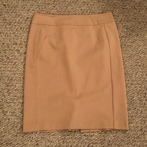 NWOT tan pencil skirt by Ann Taylor, Size 12